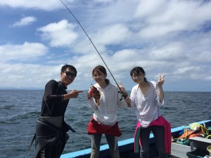 魚釣りの風景