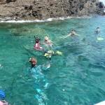 日本海の沖合は透明度抜群